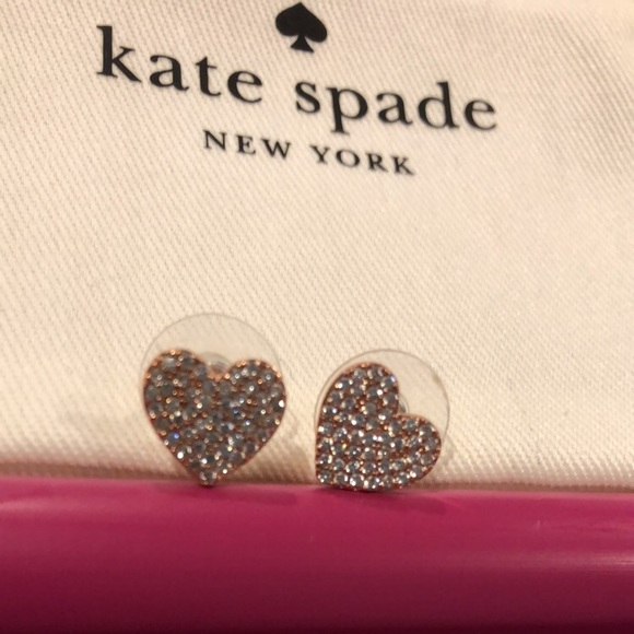 278536c5b kate spade Jewelry - Kate spade yours truly pave heart studs